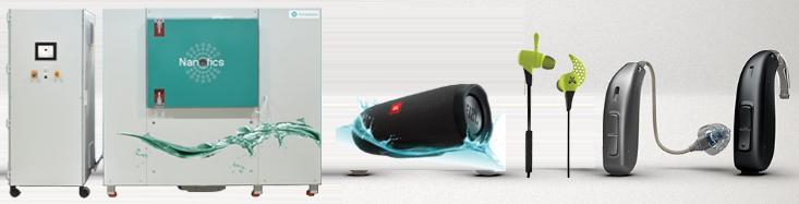 助听器防水 IP68, 纳米防水涂层